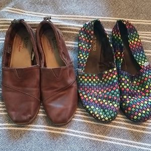 2 pair of Bobs shoes size 10